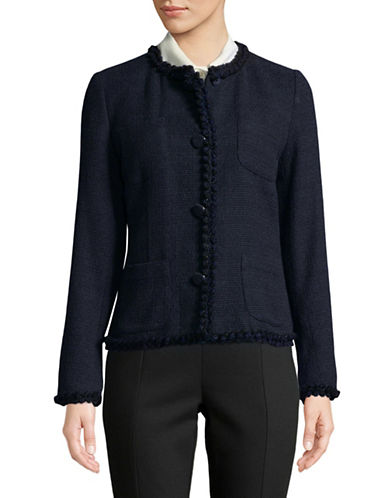 Weekend Max Mara Tweed Blazer-ULTRAMARIN-EUR 38/US 4