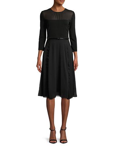 Max Mara Studio Calibri Midi Dress-BLACK-Medium