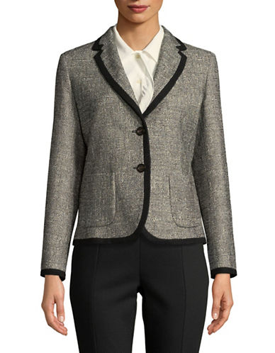 Weekend Max Mara Basket-Weave Blazer-BLACK-EUR 50/US 16