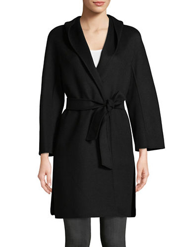 Max Mara Studio Zulma Wool-Blend Coat-BLACK-EUR 36/US 2