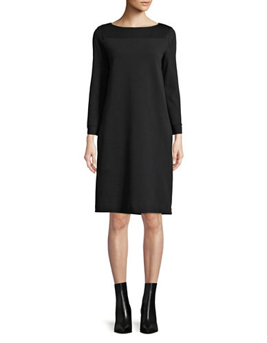 Weekend Max Mara Long Sleeve Jersey Dress-BLACK-Small
