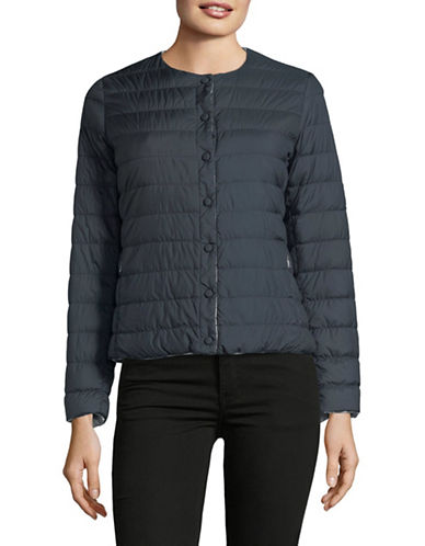Weekend Max Mara Locarno Collarless Down Jacket-NAVY/GREY-EUR 50/US 16