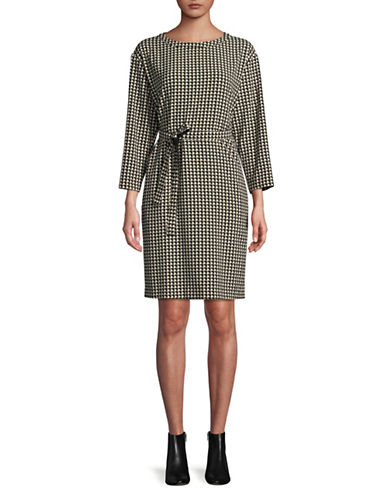 Weekend Max Mara Geometric Long Sleeve Dress-BLACK MULTI-EUR 40/US 6