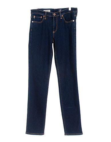 Ag Jeans Mid-Rise Cigarette Jeans-BLUE-28