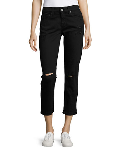 Ag Jeans The Ex-Boyfriend Slim Jeans-BLACK-31 plus size,  plus size fashion plus size appare