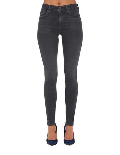 Image of Ag Jeans Farrah HW Restoration Skinny-Fit Jeans-GREY-24