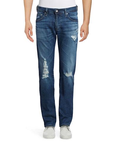 Ag Jeans The Matchbox Slim Straight Jeans-LIGHT BLUE-34