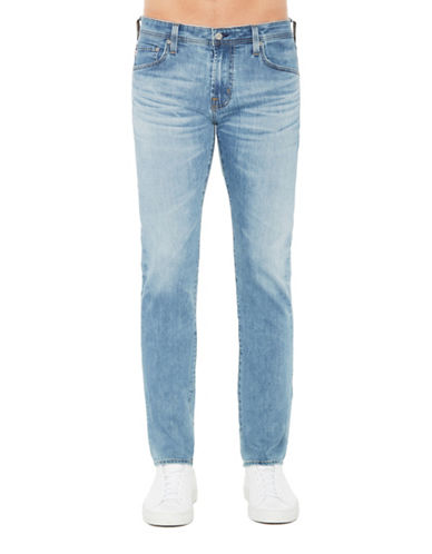Ag Jeans Slim Straight Leg Stretch Jeans-BLUE-34