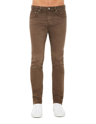 Ag Jeans Dover Matchbox Slim Straight Leg Jeans-BROWN-38
