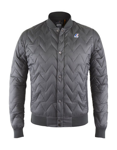 K-Way Louis Light Thermo Quilted Bomber Jacket-GREY SMOKE-Medium 88583995_GREY SMOKE_Medium