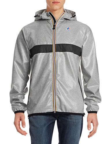K-Way Claude 3.0 Laminated Jacket-HEATHER GREY-Medium 88298661_HEATHER GREY_Medium