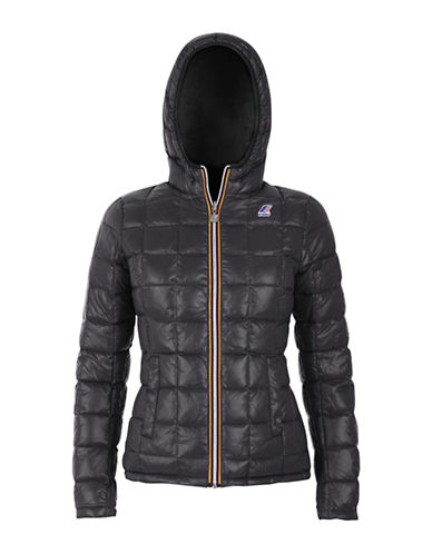 K-Way Lily Thermo Plus Double Hooded Quilted Jacket-BLACK/GREY-Small 88583984_BLACK/GREY_Small