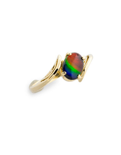 Korite 14K Yellow Gold and Maria Ammolite Ring-AMMOLITE-8