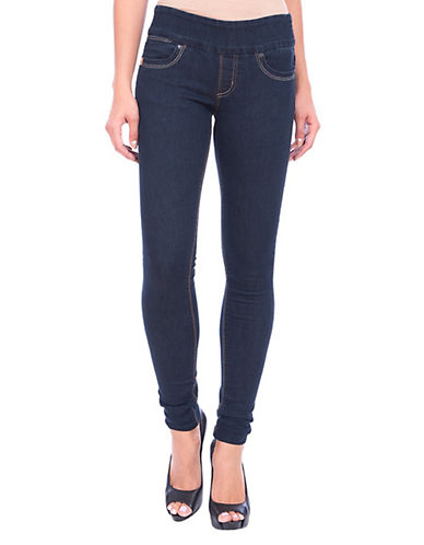 Lola Jeans Anna Mid-rise Pull-on Skinny Jeans-RINSE BLUE-36