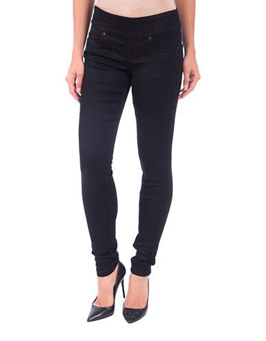 Lola Jeans Anna Mid-rise Pull-on Skinny Jeans-BLACK-34