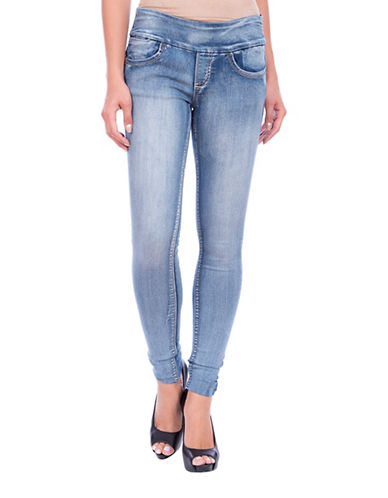 Lola Jeans Anna Mid-rise Pull-on Skinny Jeans-LIGHT BLUE-30
