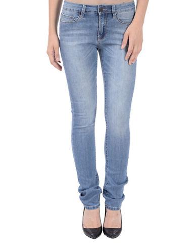 Lola Jeans Kristine Mid-Rise Straight Jeans-BLACK-28