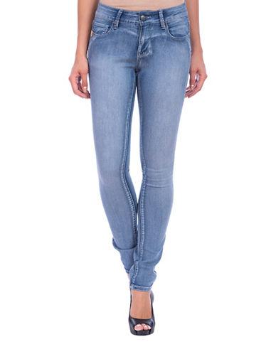 Lola Jeans Kristine Mid-Rise Straight Jeans-LIGHT BLUE-40