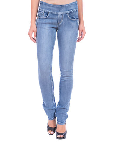 Lola Jeans Catherine Pull-On Straight Jeans-LIGHT BLUE-30