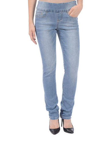 Lola Jeans Catherine Pull-On Straight Jeans-RINSE BLUE-26