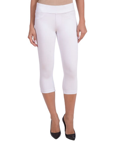 Lola Jeans Michelle Capri Leggings-WHITE-Small