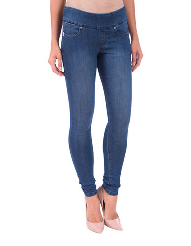 Lola Jeans Anna Mid-rise Pull-on Skinny Jeans-MEDIUM BLUE-36