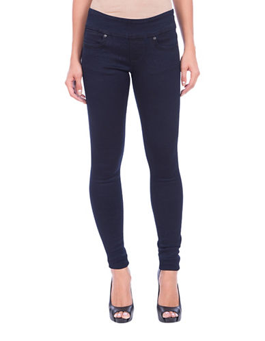 Lola Jeans Anna Mid-rise Pull-on Skinny Jeans-BLUE-27