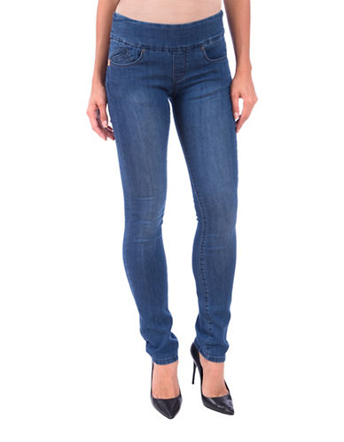 Lola Jeans Catherine Pull-On Straight Jeans-MEDIUM BLUE-42
