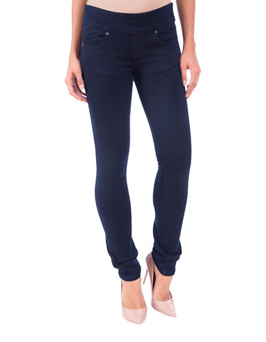 Lola Jeans Catherine Pull-On Straight Jeans-BLUE-28