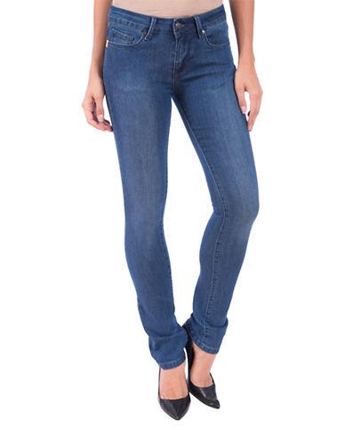 Lola Jeans Kristine Mid-Rise Straight Jeans-MEDIUM BLUE-34