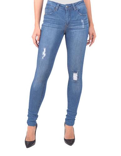 Lola Jeans Alexa High-Rise Skinny Jeans-DESTROYED BLUE-34