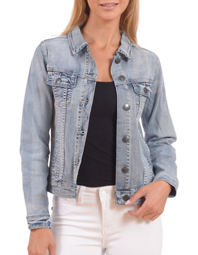 Lola Jeans Gabriella Slim Stretch-Denim Jacket-BLUE-Large