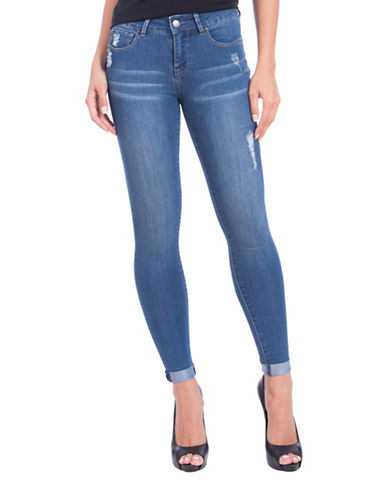 Lola Jeans Blair Mid-Rise Ankle Jeans-DESTROYED BLUE-28