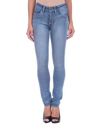 Lola Jeans Kate High-Rise Straight Jeans-MEDIUM LIGHT BLUE-28