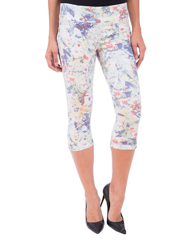 Lola Jeans Michelle Mid-Rise Pull-On Capri Jeans-PARADISE-31