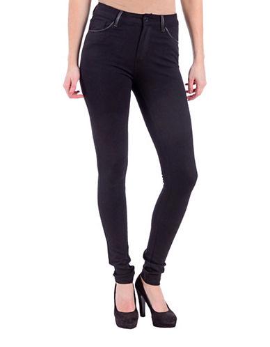 Lola Jeans Erin Mid-Rise Skinny Leggings-BLACK-32