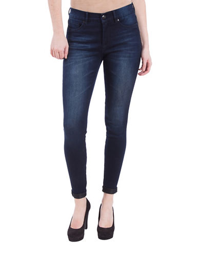 Lola Jeans Camille Slim-Fit Roll-Up Jeans-MIDNIGHT BLUE-30