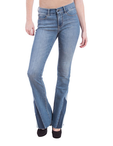 Lola Jeans Cynthia Slim-Fit Mid-Rise Flared Jeans-MEDIUM LIGHT BLUE-32