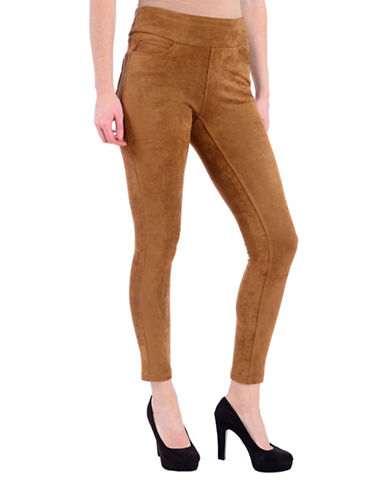 Lola Jeans Slim-Fit Mid-Rise Ankle Jeans-SUEDE CAMEL-Small
