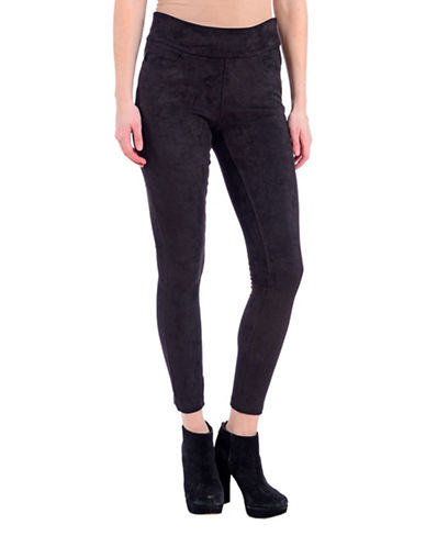Lola Jeans Slim-Fit Mid-Rise Ankle Jeans-SUEDE BLACK-Small