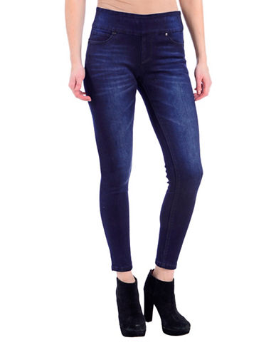 Lola Jeans Julia Slim-Fit Faded Mid-Rise Ankle Jeans-MIDNIGHT BLUE-33
