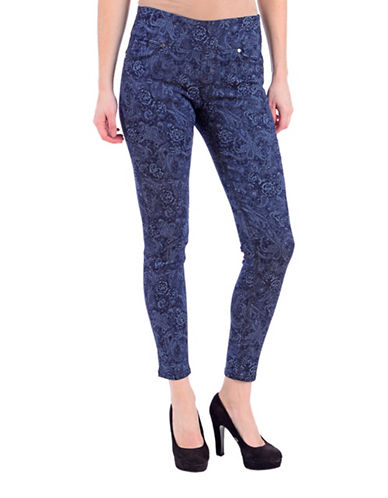 Lola Jeans Slim-Fit Paisley Print Ankle Jeans-PAISLEY-26