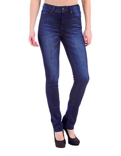 Lola Jeans Slim-Fit High-Rise Straight Jeans-MIDNIGHT BLUE-27