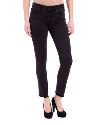 Lola Jeans Slim-Fit Mid-Rise Ankle Jeans-HEATHER BLACK-30