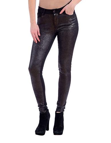 Lola Jeans Mid-Rise Skinny Leggings-SNAKE BLACK-28