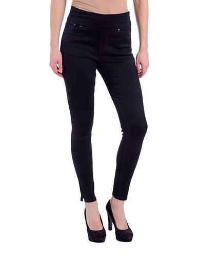 Lola Jeans Slim-Fit High-Rise Ankle Jeans-BLACK-28