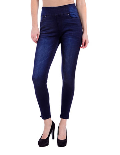 Lola Jeans Slim-Fit High-Rise Ankle Jeans-MIDNIGHT BLUE-30