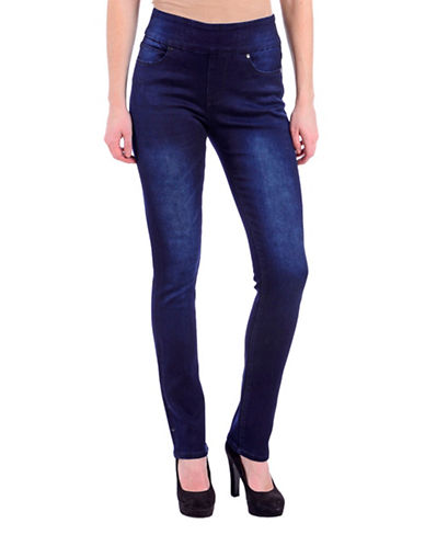Lola Jeans Slim High-Rise Straight Jeans-MIDNIGHT BLUE-29
