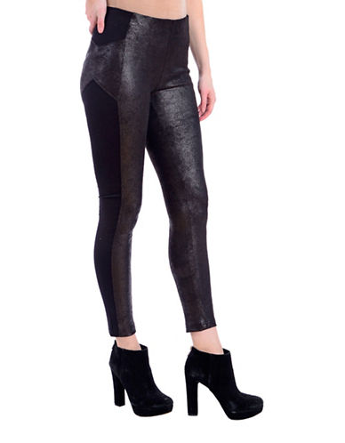 Lola Jeans Slim-Fit Mid-Rise Ankle Leggings-SNAKE BLACK-Small