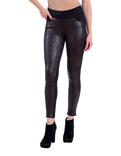 Lola Jeans Slim-Fit Ankle Leggings-SNAKE BLACK-X-Large